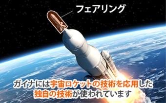 イナには宇宙ロケットの技術を応用した 独自の技術が使われています