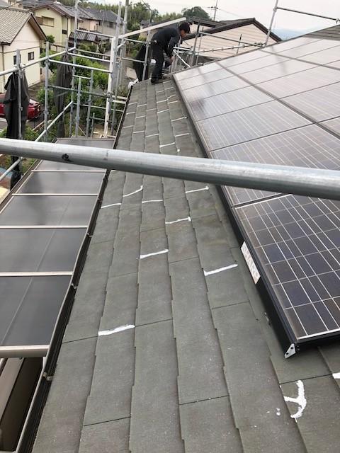 ソーラー付き屋根工事