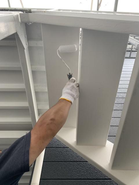外部階段塗り替え工事