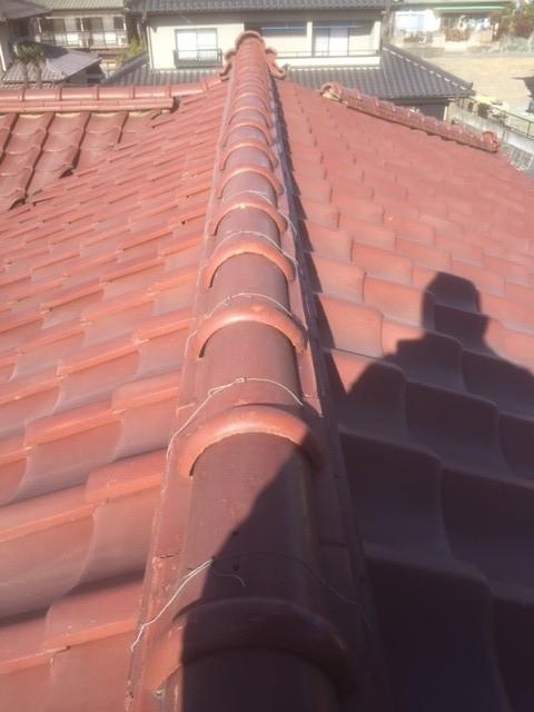 群馬県玉村町で瓦屋根の修理工事を無料見積りしました