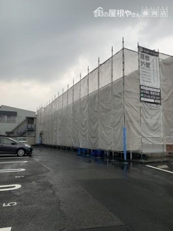 仮設足場工事メッシュシート