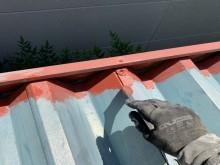 屋根錆止め塗布