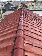 瓦屋根の棟取り直し