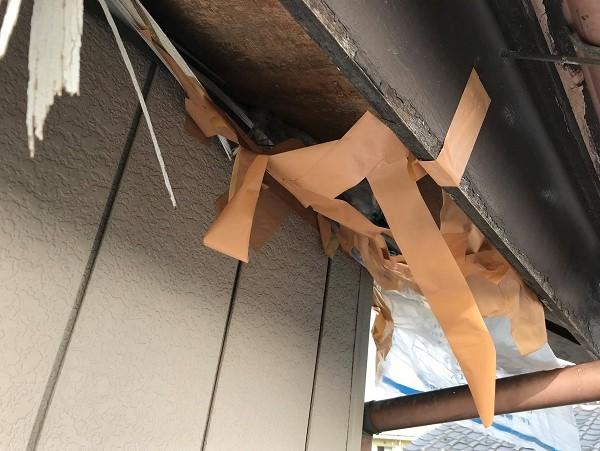 群馬県藤岡市で軒天上の工事と波板の工事を行いました。