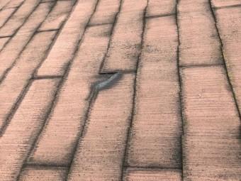 スレート屋根材破損