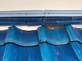 屋根漆喰の剥離