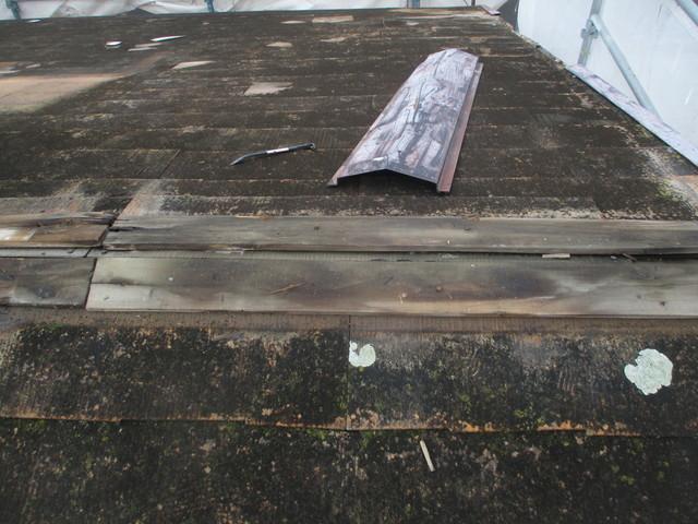 スレート屋根重ね葺き工事