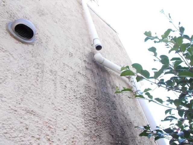 外壁カビ雨樋外れ