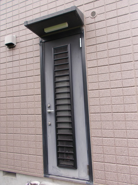勝手口玄関ドア塗装