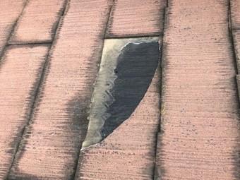 コロニアル屋根飛散