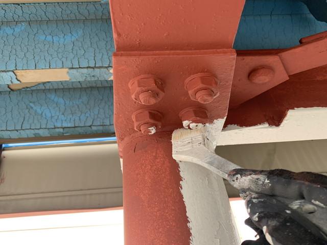 車庫塗り替え