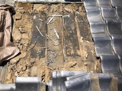 群馬県藤岡市で雨漏りが起きているとのことで瓦屋根の雨漏り工事を行いました。