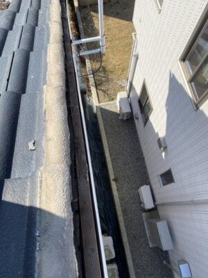 群馬県高崎市で台風被害によりケラバ瓦が下がってしまいましたので火災保険で屋根修理します