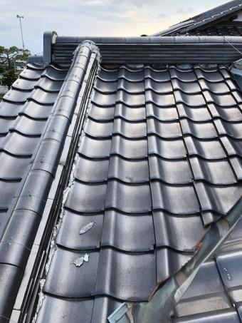 屋根の漆喰補修