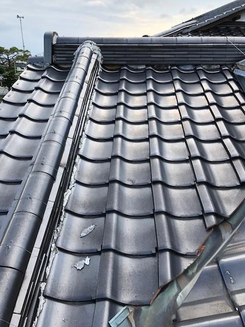富岡市で漆喰の剥がれ落ちた瓦屋根を無料点検しました