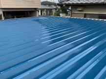 折板屋根の塗り替え